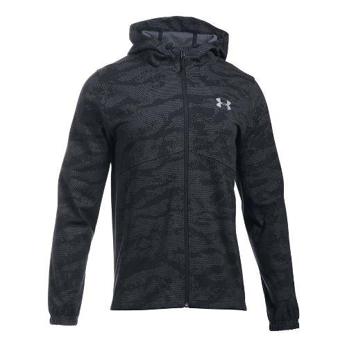 Mens Under Armour Spring Swacket Novelty Running Jackets - Black L