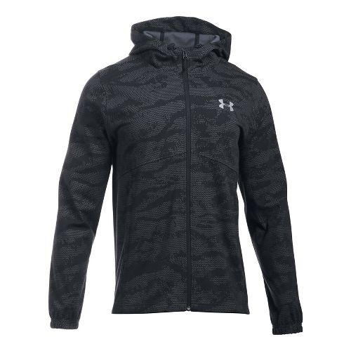 Mens Under Armour Spring Swacket Novelty Running Jackets - Black XXL