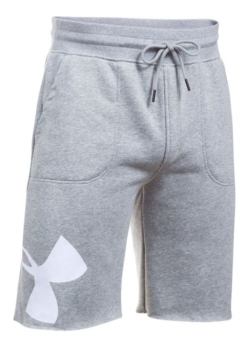 Mens Under Armour Rival Exploded Graphic Unlined Shorts - True Grey Heather L