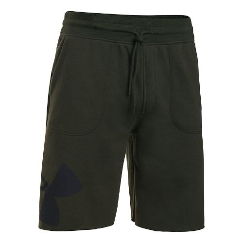 Mens Under Armour Rival Exploded Graphic Unlined Shorts - Green/Black L