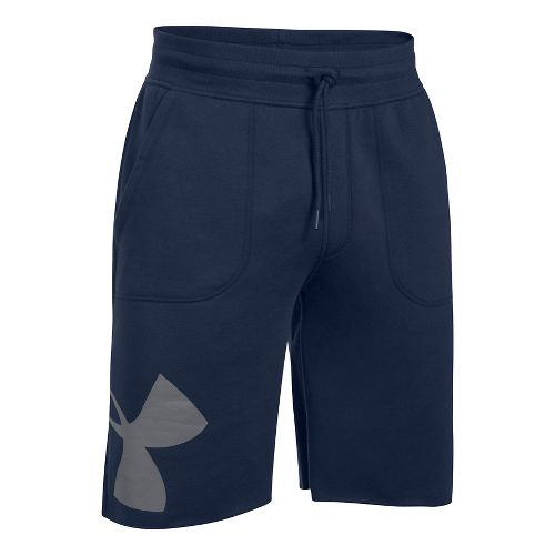 Mens Under Armour Rival Exploded Graphic Unlined Shorts - Midnight Navy L