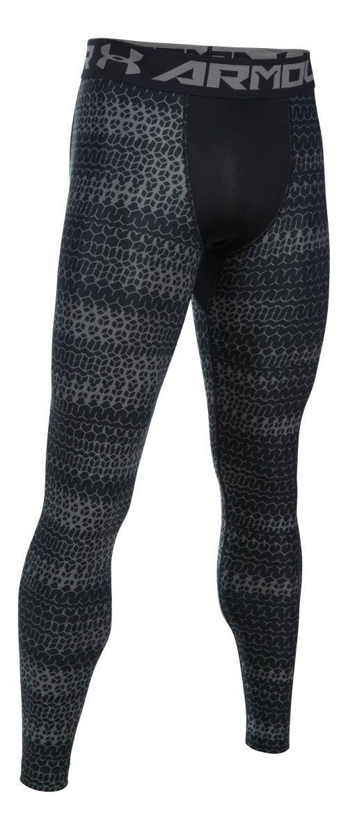 Mens Under Armour HeatGear 2.0 Novelty Tights & Leggings Pants - Black/Graphite L