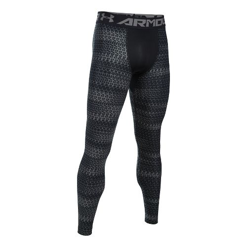 Mens Under Armour HeatGear Armour 2.0 Novelty Tights & Leggings Pants - Black/Graphite 3XL