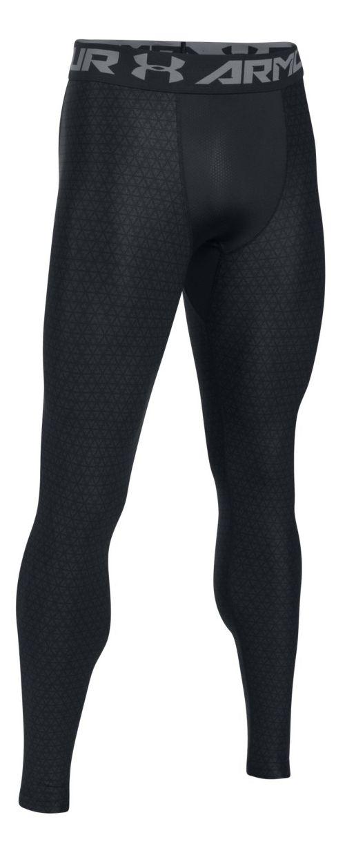 Mens Under Armour HeatGear 2.0 Novelty Tights & Leggings Pants - Black/Grey 3XL