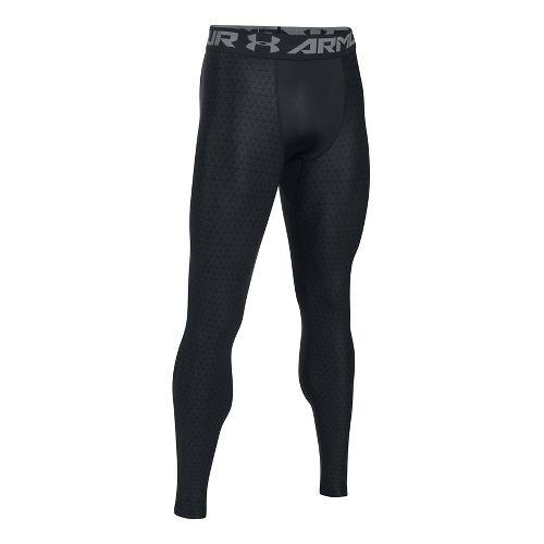 Mens Under Armour HeatGear 2.0 Novelty Tights & Leggings Pants - Black/Grey XL