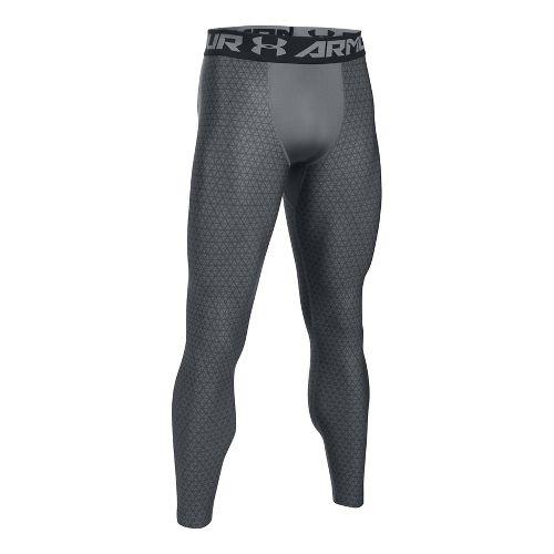 Mens Under Armour HeatGear 2.0 Novelty Tights & Leggings Pants - Graphite/Black XXL