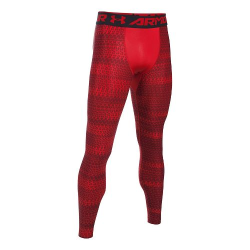 Mens Under Armour HeatGear Armour 2.0 Novelty Tights & Leggings Pants - Red/Black M