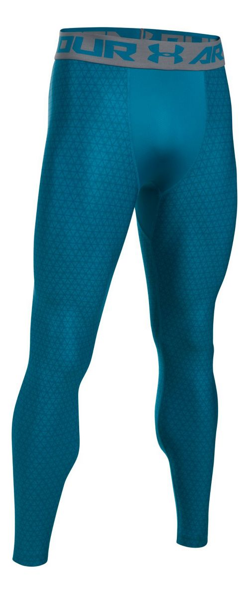 Mens Under Armour HeatGear 2.0 Novelty Tights & Leggings Pants - Bayou Blue/Graphite XXL