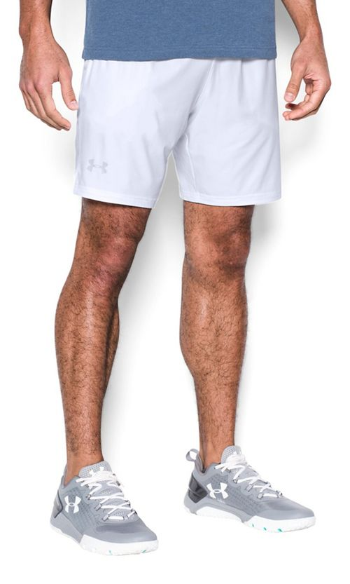 Mens Under Armour Cage Unlined Shorts - White 3XL