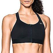 Womens Under Armour Eclipse High Zip Front Sports Bras - Black 38-B
