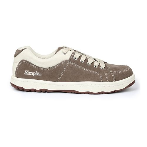 Mens Simple OS-Sneaker Casual Shoe - Taupe 7.5