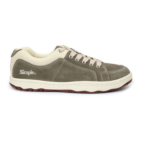 Mens Simple OS-Sneaker Casual Shoe - Olive 13