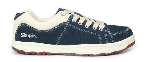 Mens Simple OS-Sneaker Casual Shoe - Navy 8.5