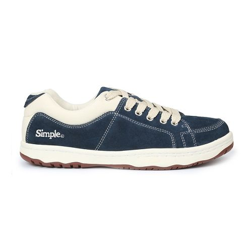 Mens Simple OS-Sneaker Casual Shoe - Navy 7.5