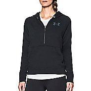 Womens Under Armour Favorite Fleece 1/2 Zip Half-Zips & Hoodies Technical Tops