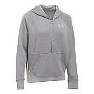Womens Under Armour Favorite Fleece 1/2 Zip Half-Zips & Hoodies Technical Tops