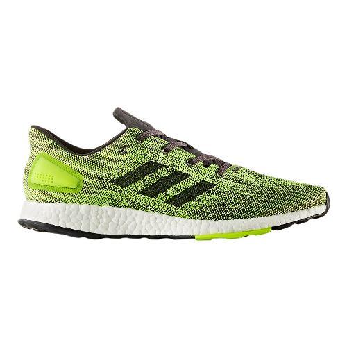 Mens adidas PureBoost DPR Running Shoe - Black/Yellow 12