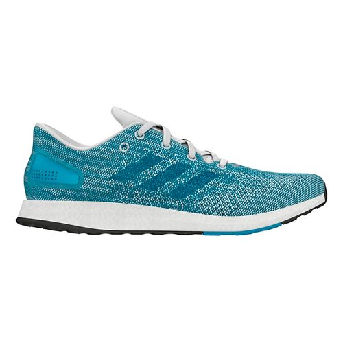 Mens adidas PureBoost DPR Running Shoe - Turquoise/Grey 10