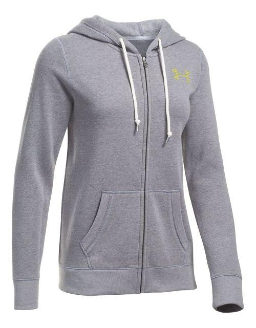 Favorite Fleece Full Zip Half-Zips & Hoodies Technical Tops - Graphite/Yellow S