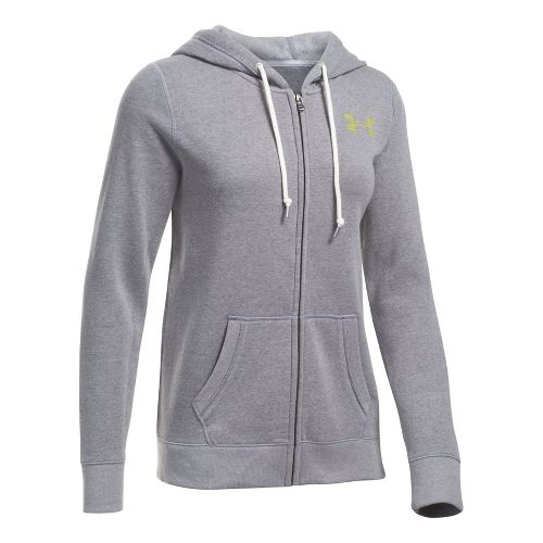 Favorite Fleece Full Zip Half-Zips & Hoodies Technical Tops - Graphite/Yellow XS