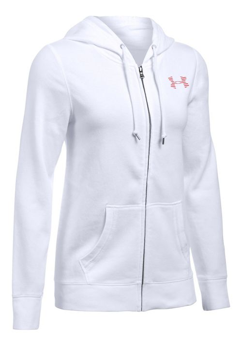 Favorite Fleece Full Zip Half-Zips & Hoodies Technical Tops - White/Pomegranate L