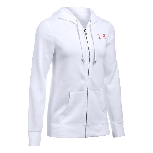 Favorite Fleece Full Zip Half-Zips & Hoodies Technical Tops - White/Pomegranate XS
