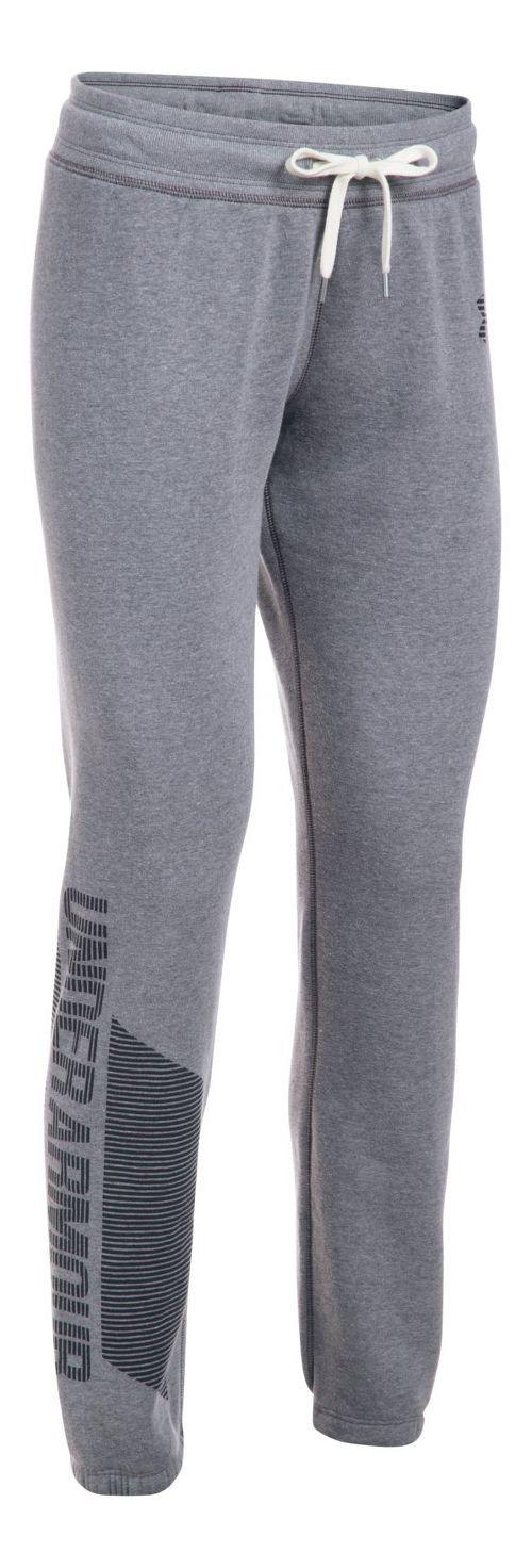 Womens Under Armour Favorite Fleece Pants - Black/Black M