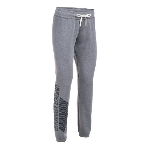Womens Under Armour Favorite Fleece Pants - Black/Black XS