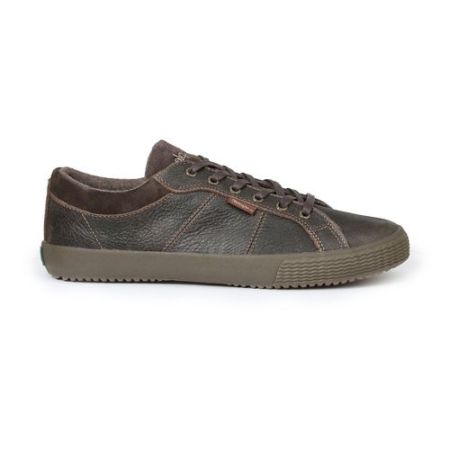 Mens Simple Waveoff Casual Shoe - Dark Brown 10