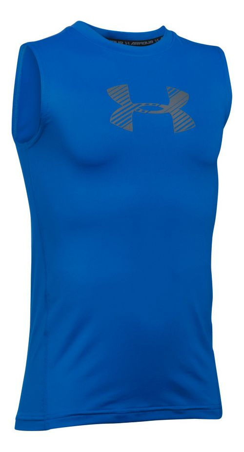 Under Armour Boys Armour Sleeveless & Tank Tops Technical Tops - Ultra Blue YS
