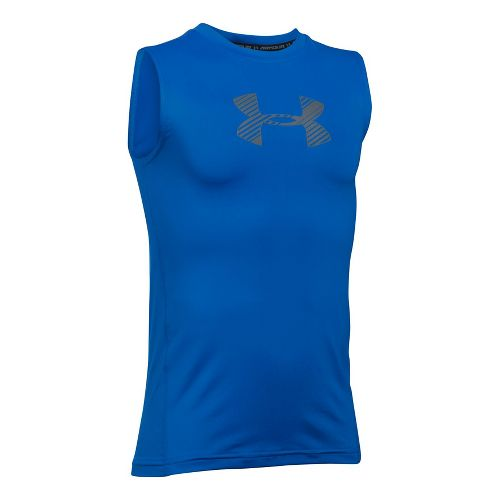 Under Armour Boys Armour Sleeveless & Tank Tops Technical Tops - Ultra Blue YS