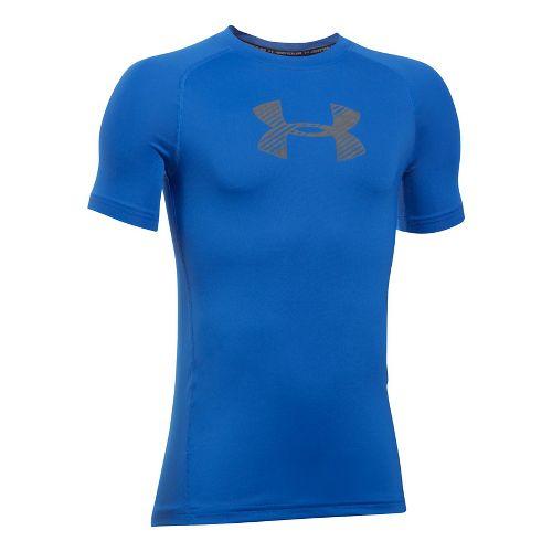 Under Armour Boys Armour Short Sleeve Technical Tops - Ultra Blue YXL