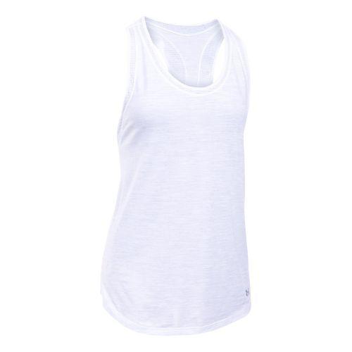 Womens Under Armour Favorite Mesh Sleeveless & Tank Tops Technical Tops - Navy/Carbon XL