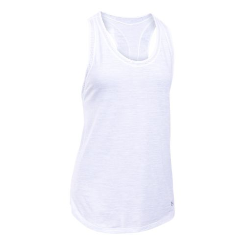 Womens Under Armour Favorite Mesh Sleeveless & Tank Tops Technical Tops - White XL