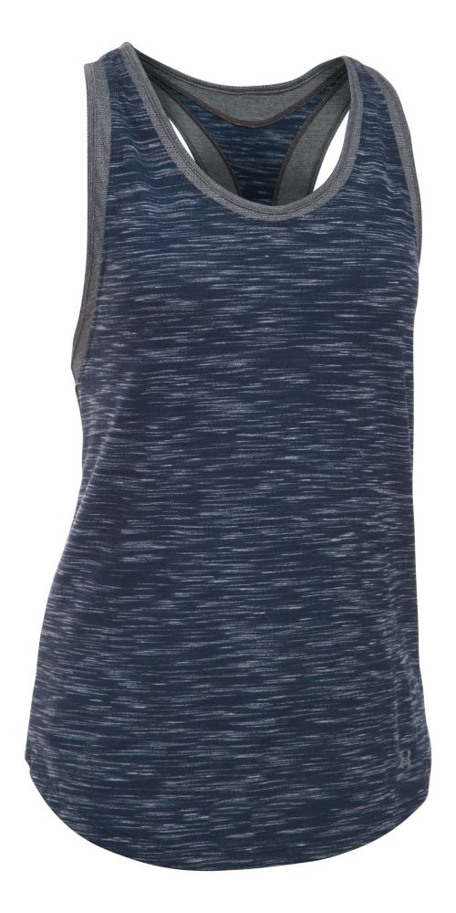 Womens Under Armour Favorite Mesh Sleeveless & Tank Tops Technical Tops - Navy/Carbon M