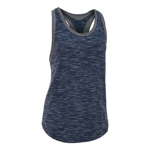Womens Under Armour Favorite Mesh Sleeveless & Tank Tops Technical Tops - Navy/Carbon S