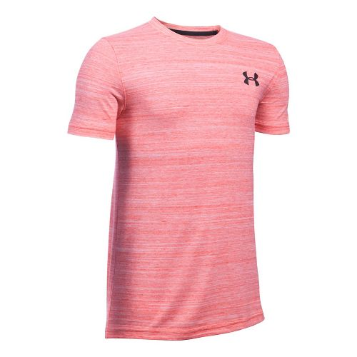 Under Armour Boys Big Logo Hybrid Triblend Tee Short Sleeve Technical Tops - Red YL ...