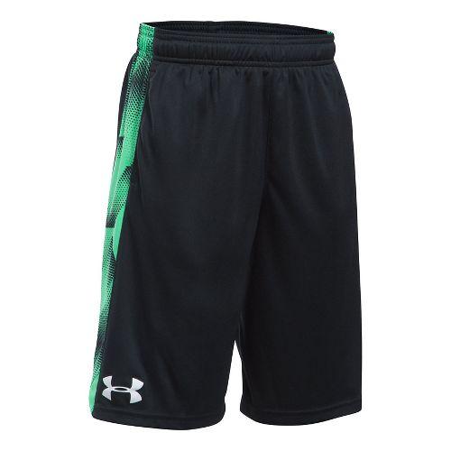 Under Armour Boys Eliminator Printed Short Unlined Technical Tops - Black/Vapor Green YL