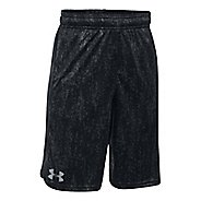 Under Armour Eliminator Printed Short Unlined Technical Tops - Black/Steel YL