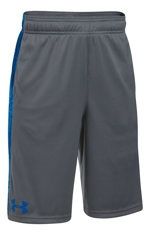 Under Armour Eliminator Printed Short Unlined Technical Tops - Graphite/Blue YXS