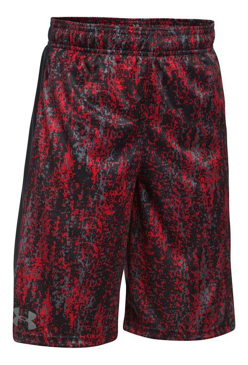 Under Armour Eliminator Printed Short Unlined Technical Tops - Red YXL