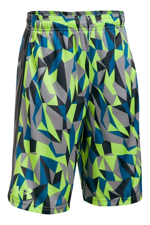 Under Armour Eliminator Printed Short Unlined Technical Tops - Lime/Anthracite YS