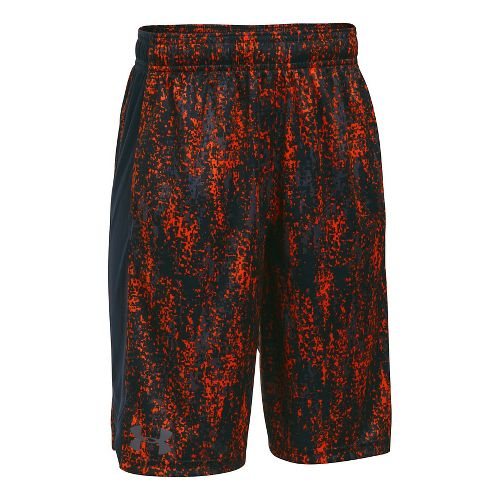 Under Armour Eliminator Printed Short Unlined Technical Tops - Orange/Anthracite YXL