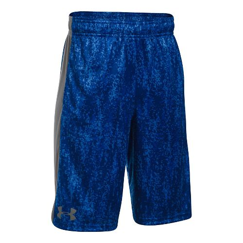 Under Armour Eliminator Printed Short Unlined Technical Tops - Blue/Graphite YXL