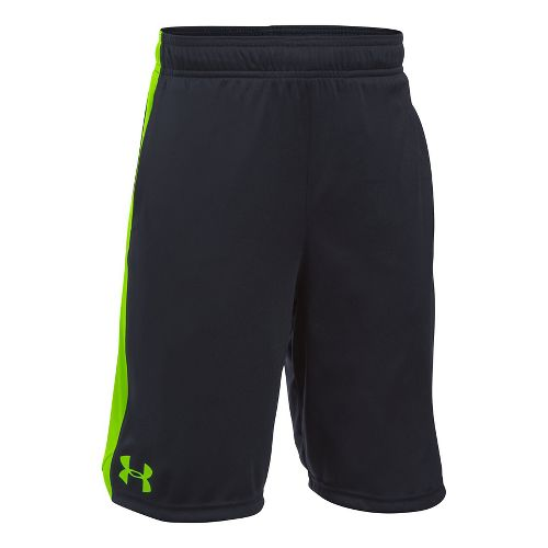 Under Armour Boys Eliminator Unlined Shorts - Black/Vapor Green YM