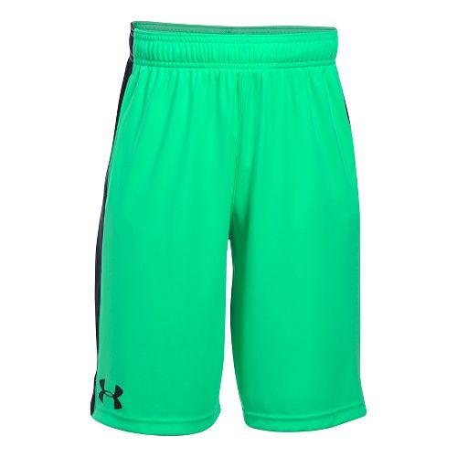 Under Armour Boys Eliminator Unlined Shorts - Vapor Green/Black YL
