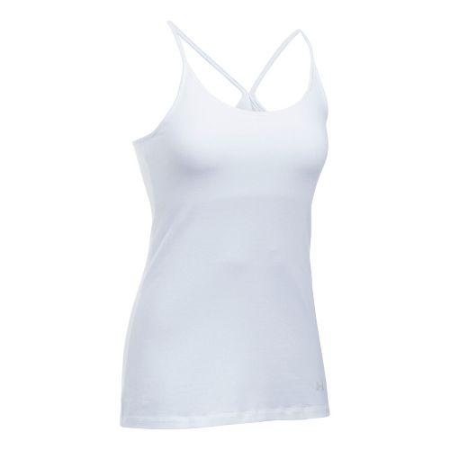 Womens Under Armour Favorite Shelf Bra Cami Sleeveless & Tank Tops Technical Tops - White ...