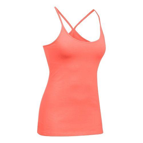 Womens Under Armour Favorite Shelf Bra Cami Sleeveless & Tank Tops Technical Tops - London Orange M
