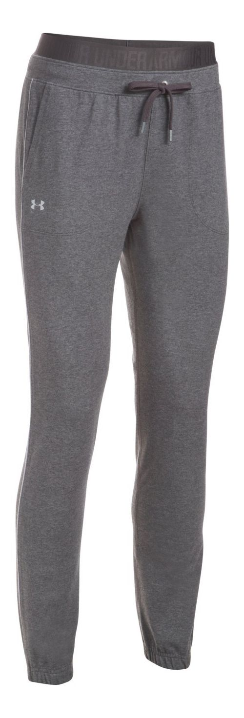 Womens Under Armour Favorite Skinny Jogger Pants - Carbon Heather L