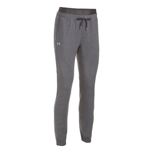 Womens Under Armour Favorite Skinny Jogger Pants - Carbon Heather S